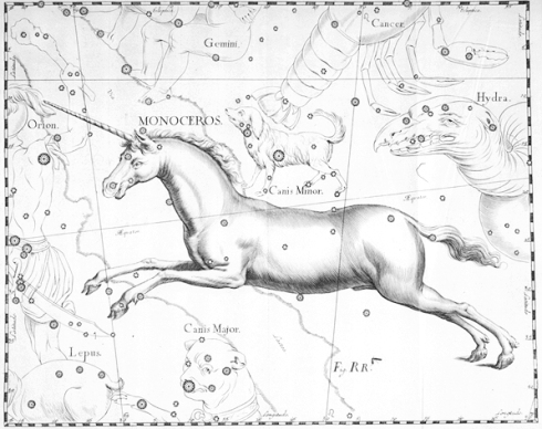 The constellation of Gemini is bordered by Monoceros, the constellation ruling Unicorns.  For real.