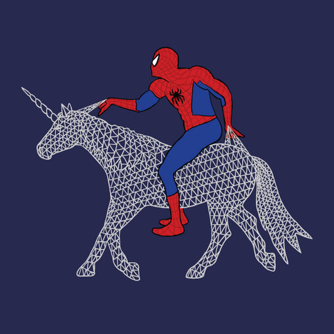 spiderman-riding-unicorn_original